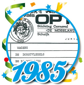 Uitslag optocht 1985 Schaijk