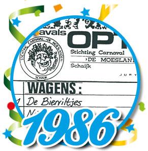 Uitslag optocht 1986 Schaijk