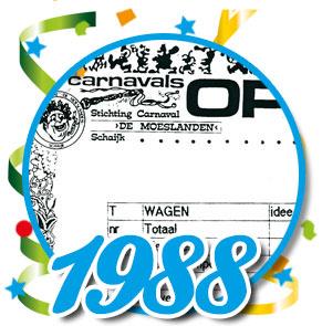 Uitslag optocht 1988 Schaijk
