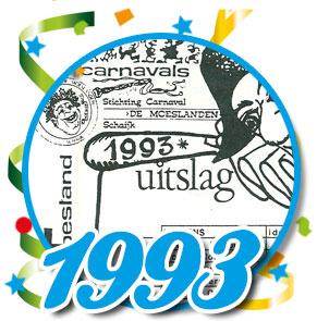 Uitslag optocht 1993 Schaijk