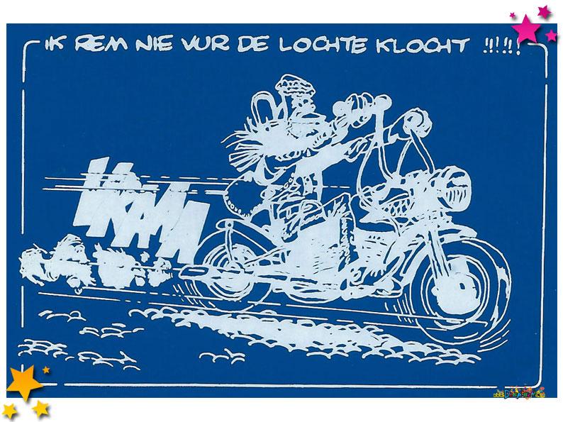 Gedurig Wispelturig heeft stickers gemaakt tegen Lochte Klocht