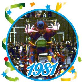 Carnavalsoptocht Schaijk - 1981