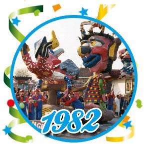 Carnavalsoptocht Schaijk - 1982