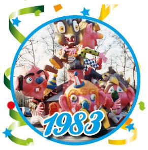 Carnavalsoptocht Schaijk - 1983