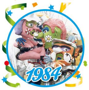 Carnavalsoptocht Schaijk - 1984