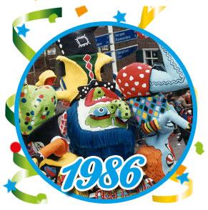 Carnavalsoptocht Schaijk - 1986