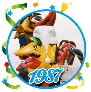 Carnavalsoptocht Schaijk - 1987
