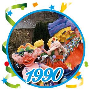 Carnavalsoptocht Schaijk - 1990