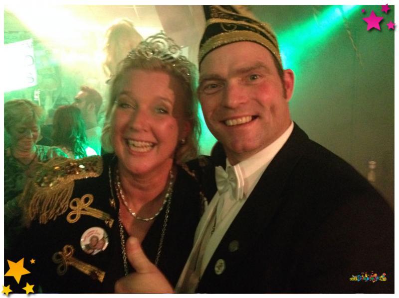 Prins Johnny Spierings en prinses Ingrid Schotman