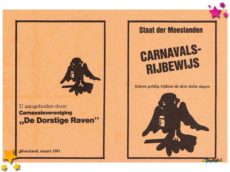 Rijbewijs Marie Wittenberg optocht Schaijk 1981