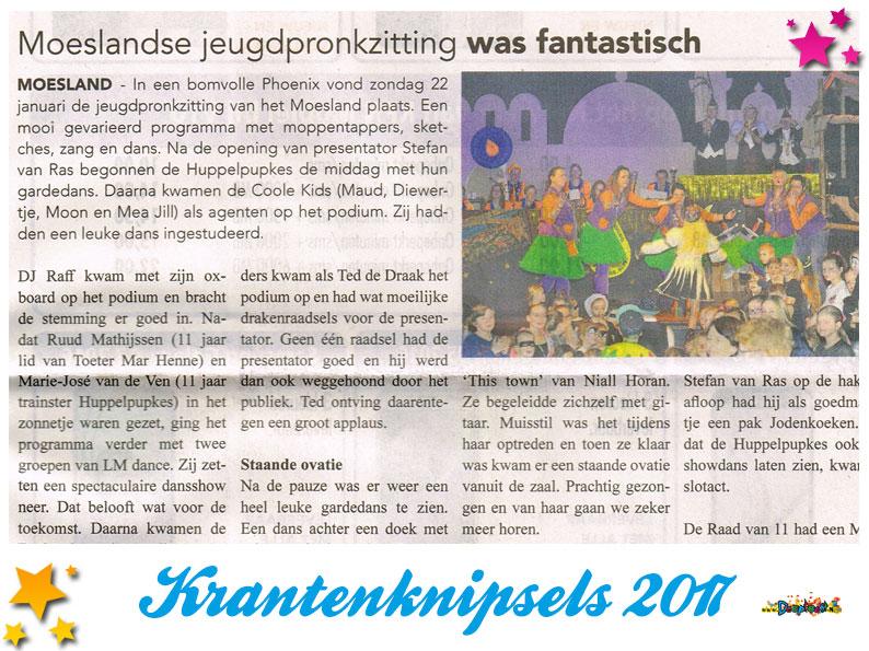 Krantenknipsels Moesland 2017