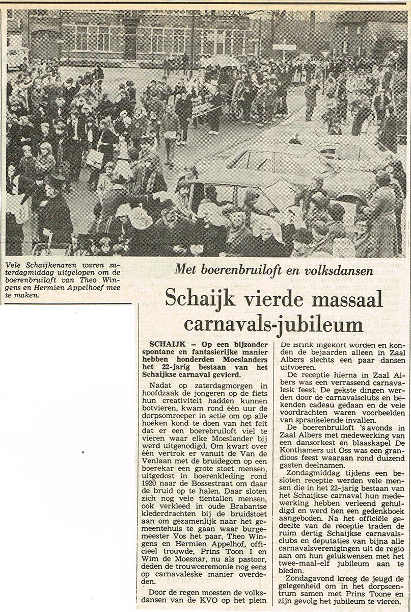 22 jaar Moesland Schaijk - Brabants Dagblad - 1981