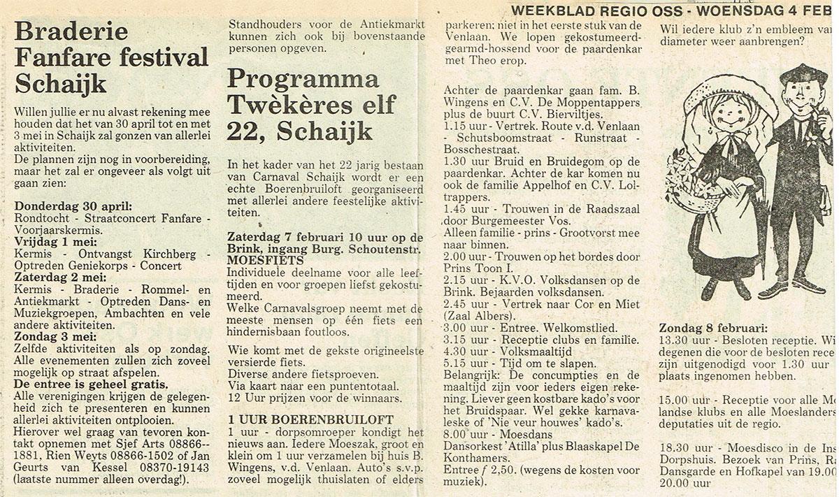 22 jaar Moesland Schaijk - Weekblad Regio Oss - 1981