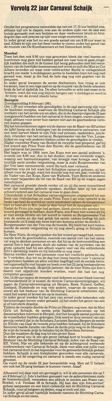 22 jaar Moesland Schaijk - De Schakel - 1981