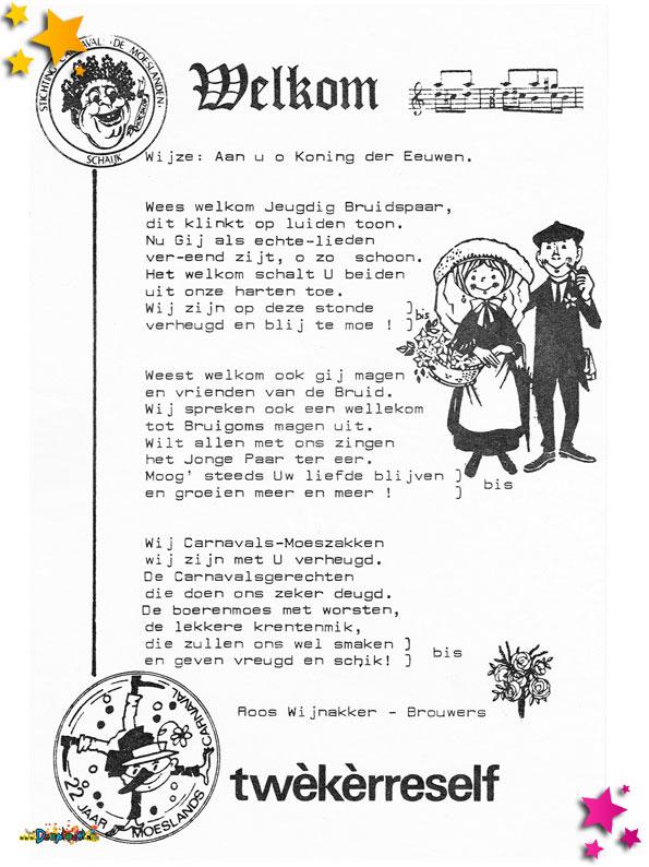 Lied 22 jaar Moesland Schaijk