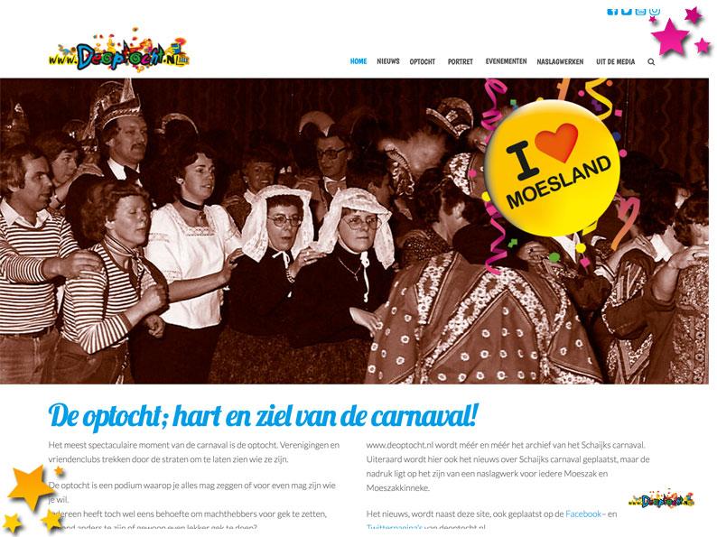 Nieuwe layout voor www.deoptocht.nl