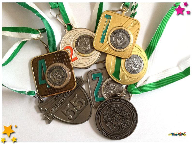 Medaillespiegel compleet met alle deelnemers