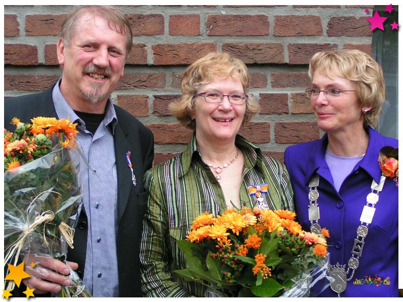 Jan en Ellen Geurts van Kessel de 'Lidmaatschap aan de Orde van Oranje Nassau