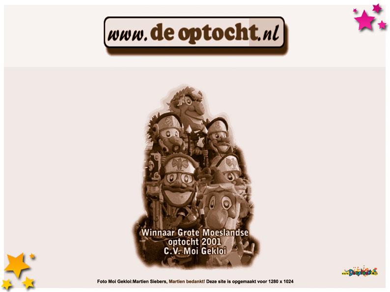 De allereerste uitvoering van deoptocht.nl