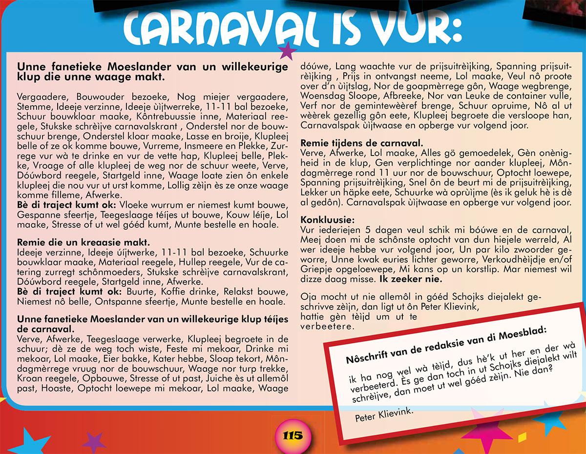 Stukje van C.I. Remie uit de carnavalskrant van 2009