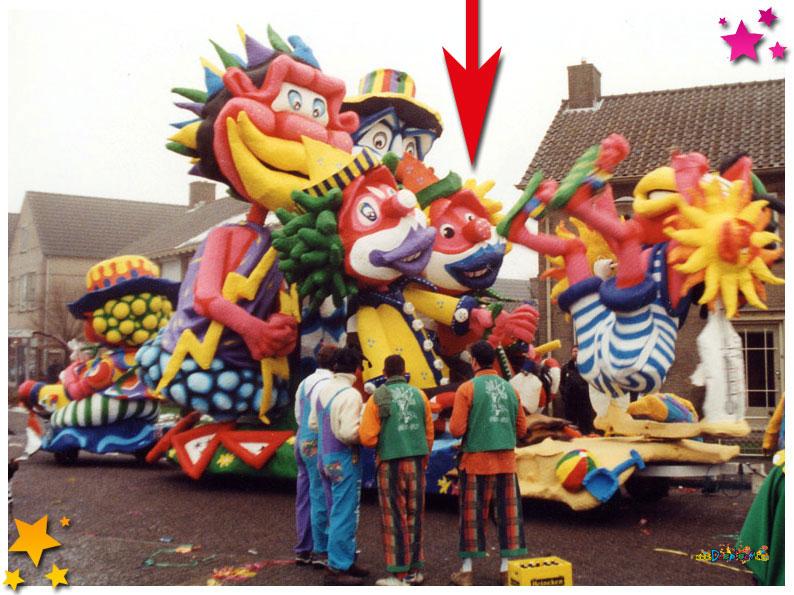 De clown van Moi Gekloi