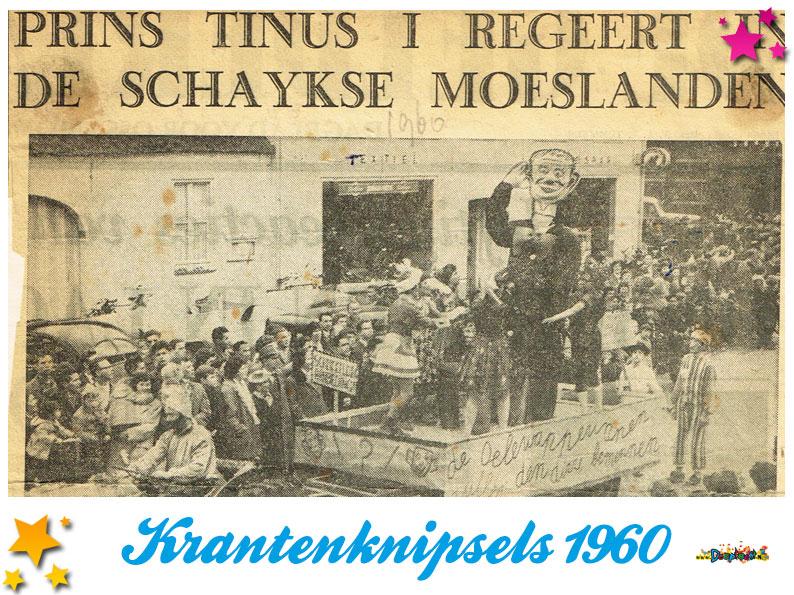 Krantenknipsels Moesland 1960