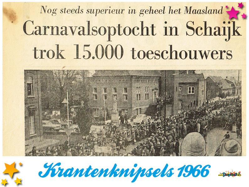 Krantenknipsels Moesland 1966