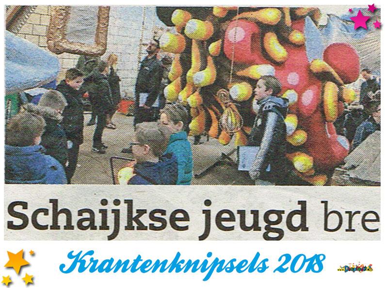 Krantenknipsels Moesland 2018