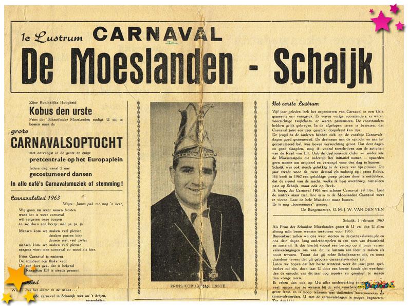 Carnavalskranten Schaijk - 1963