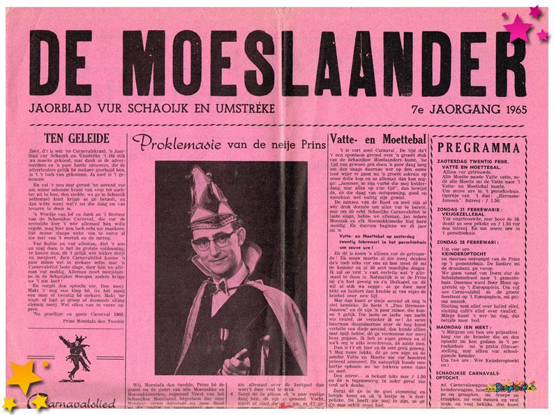 Carnavalskrant Schaijk - 1965