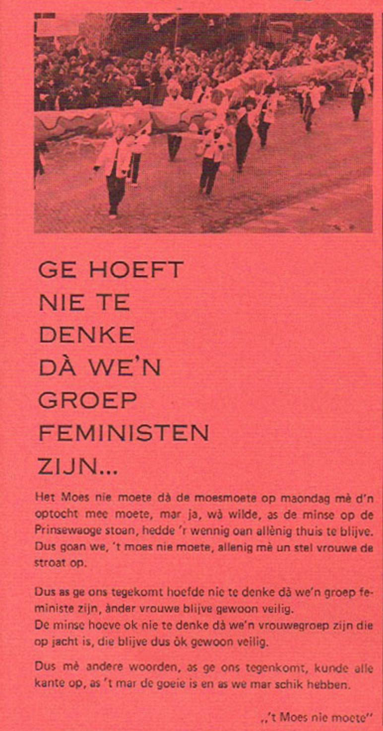 Carnavalskrant 't Moes Nie Moete - 1981
