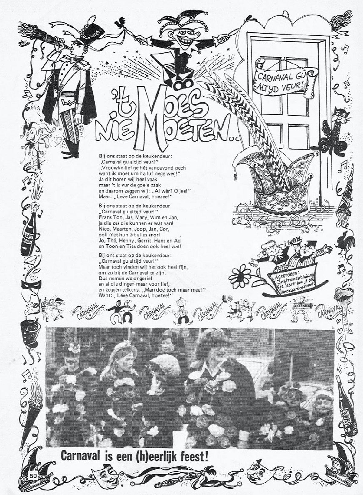 Carnavalskrant 't Moes Nie Moete - 1982