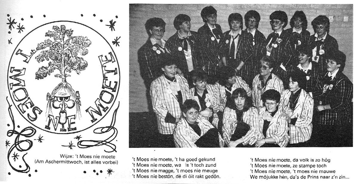 Carnavalskrant 't Moes Nie Moete - 1987