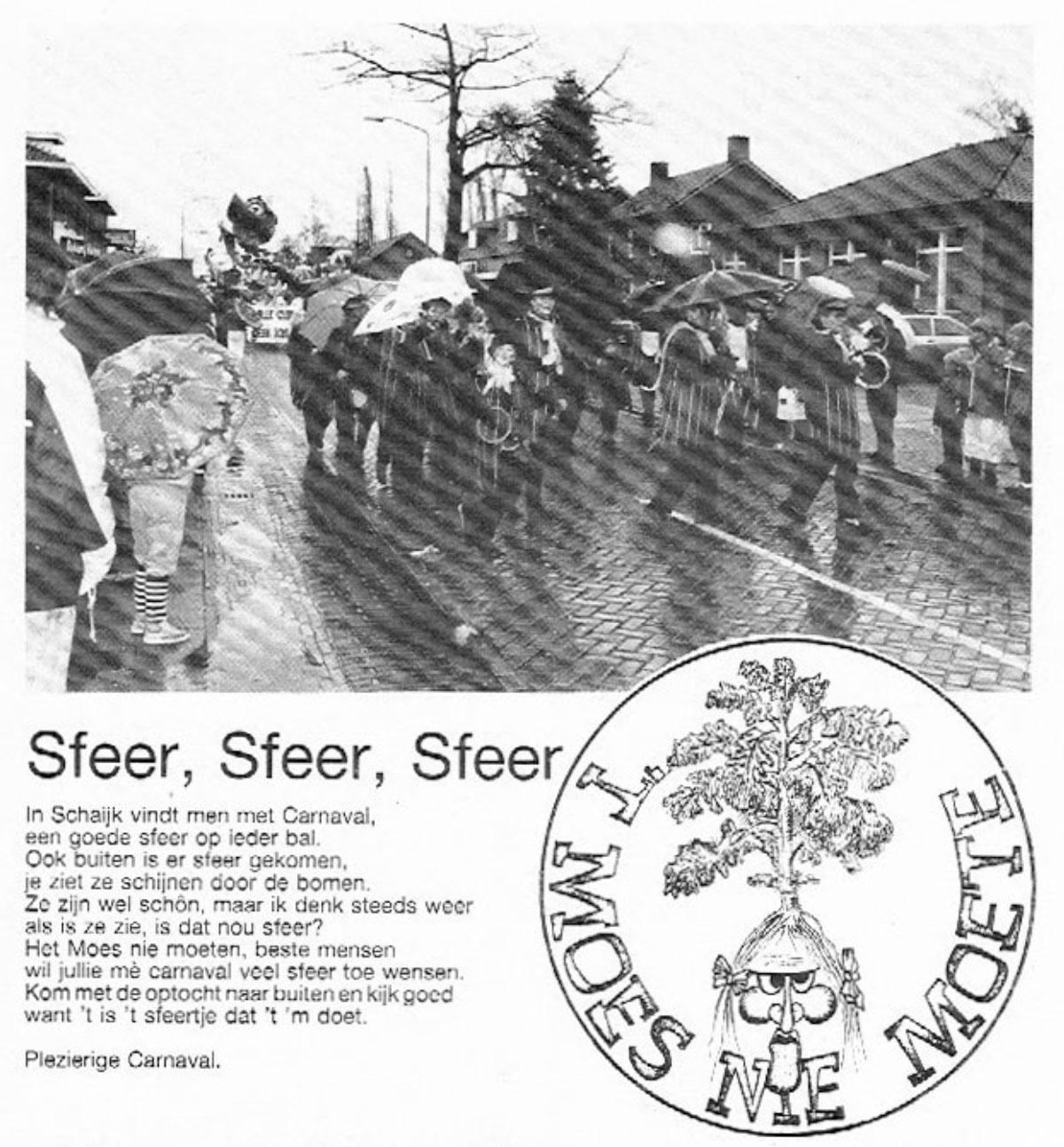 Carnavalskrant 't Moes Nie Moete - 1988