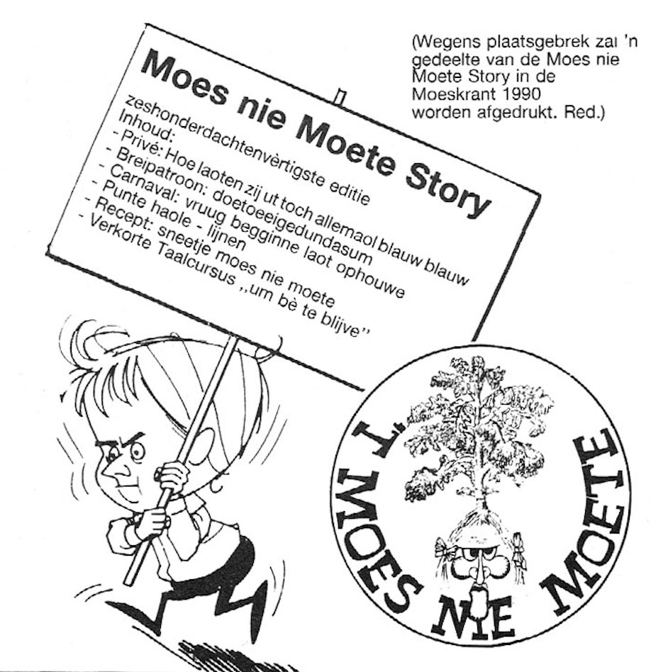 Carnavalskrant 't Moes Nie Moete - 1989