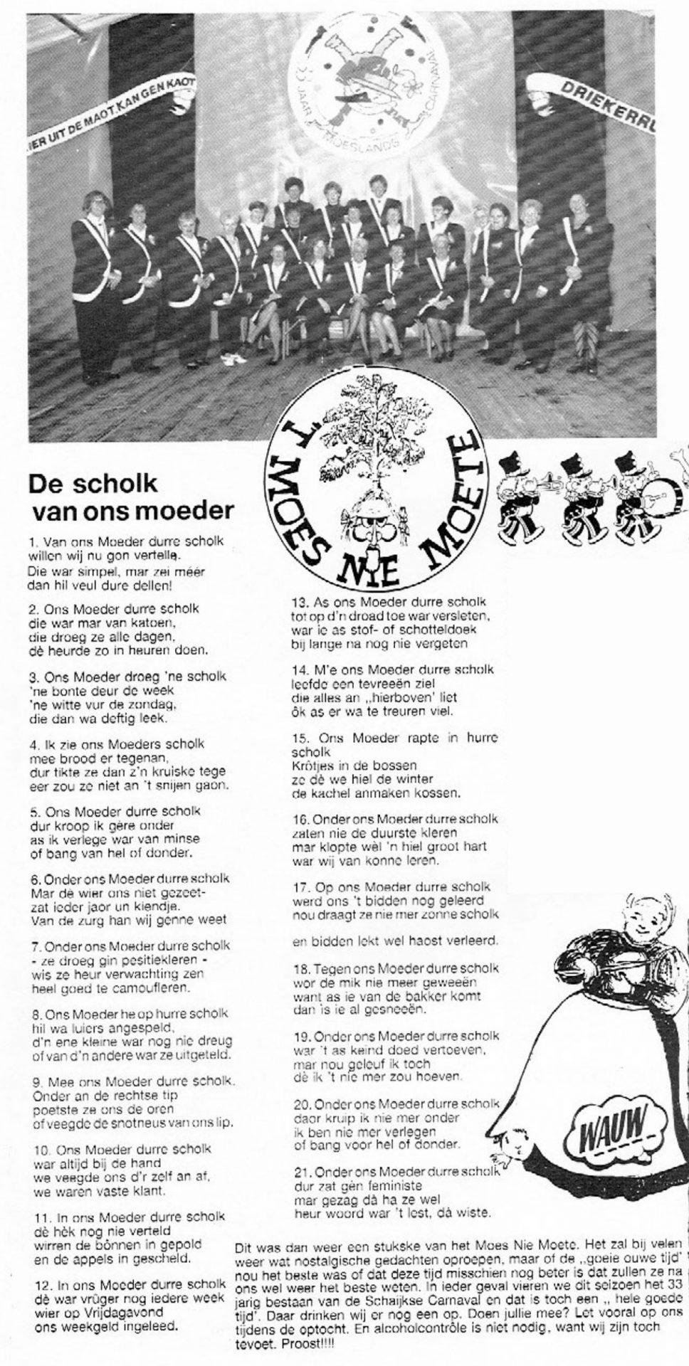 Carnavalskrant 't Moes Nie Moete - 1992