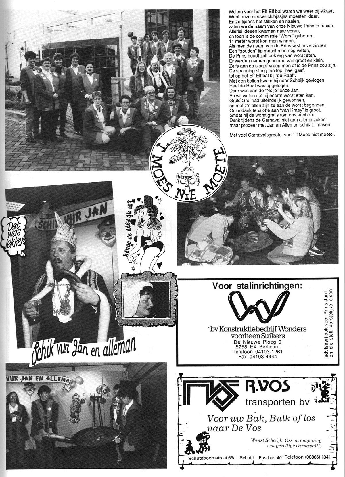 Carnavalskrant 't Moes Nie Moete - 1995