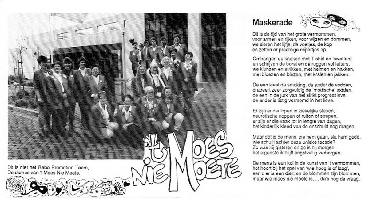 Carnavalskrant 't Moes Nie Moete - 1996