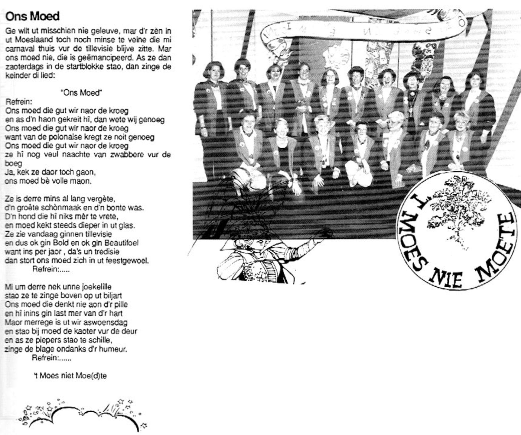 Carnavalskrant 't Moes Nie Moete - 1997