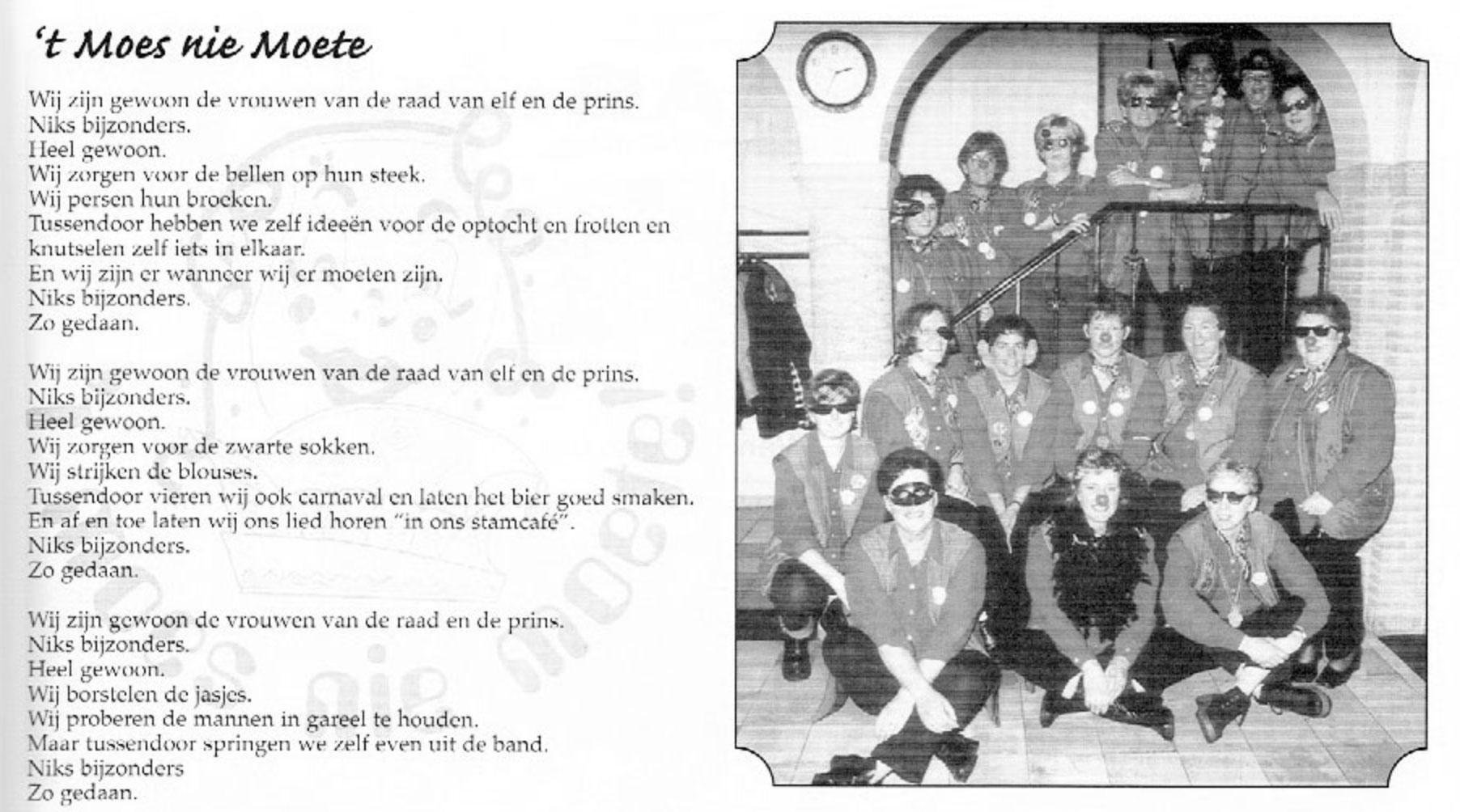 Carnavalskrant 't Moes Nie Moete - 2001