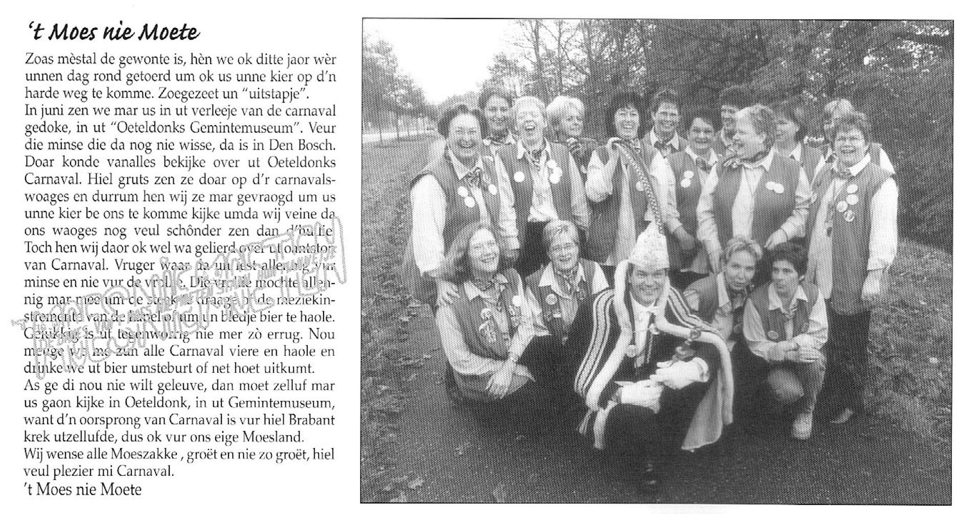 Carnavalskrant 't Moes Nie Moete - 2002