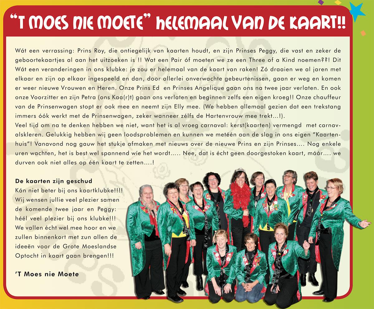Carnavalskrant 't Moes Nie Moete - 2008