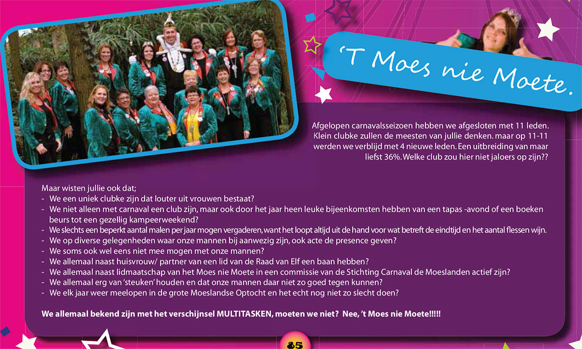 Carnavalskrant 't Moes Nie Moete - 2010
