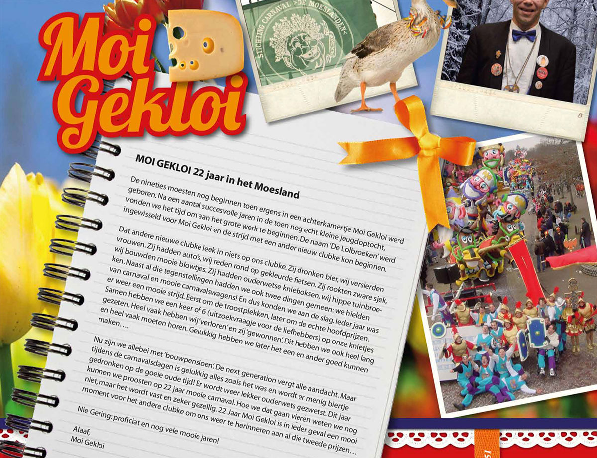 Stukje uit de carnavalskrant van Moi Gekloi - 2011