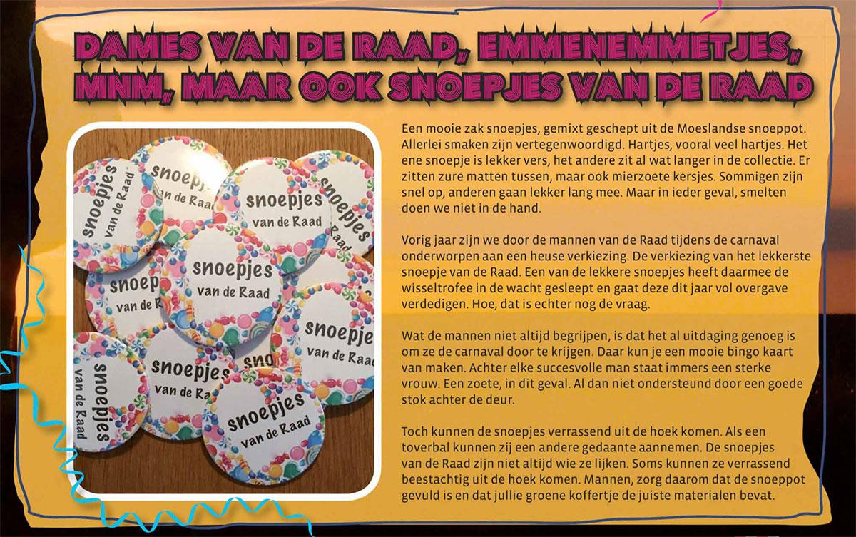 Carnavalskrant 't Moes Nie Moete - 2016