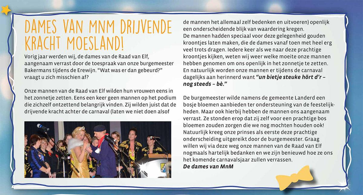 Carnavalskrant 't Moes Nie Moete - 2017