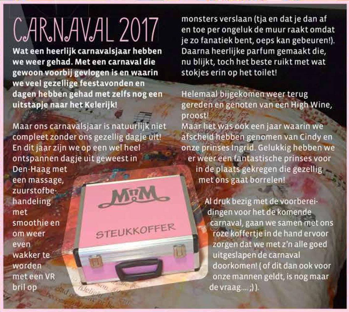 Carnavalskrant 't Moes Nie Moete - 2018