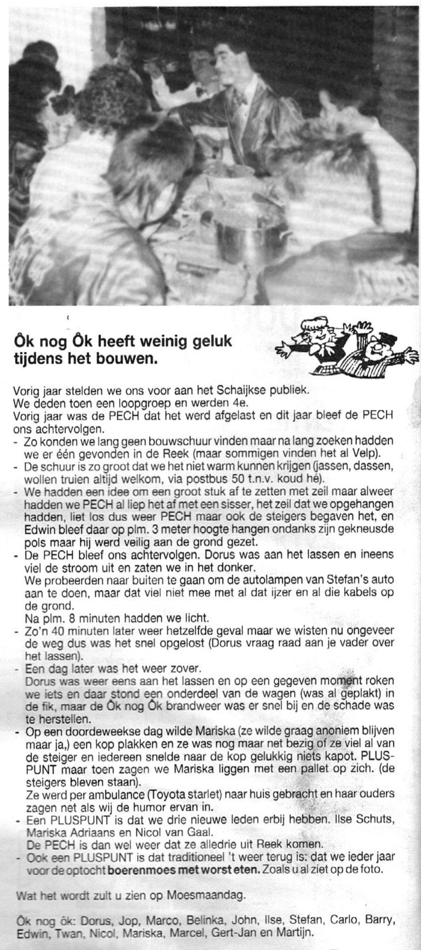 Carnavalskrant Ok Noch Ok - 1991