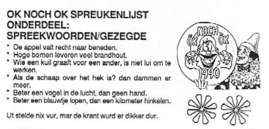Carnavalskrant Ok Noch Ok - 1996