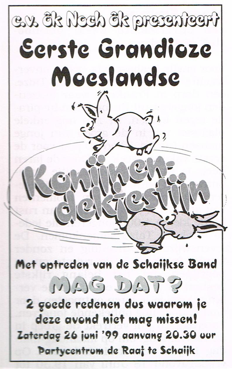 Konijnendekfestijn Ok Noch Ok - 1999